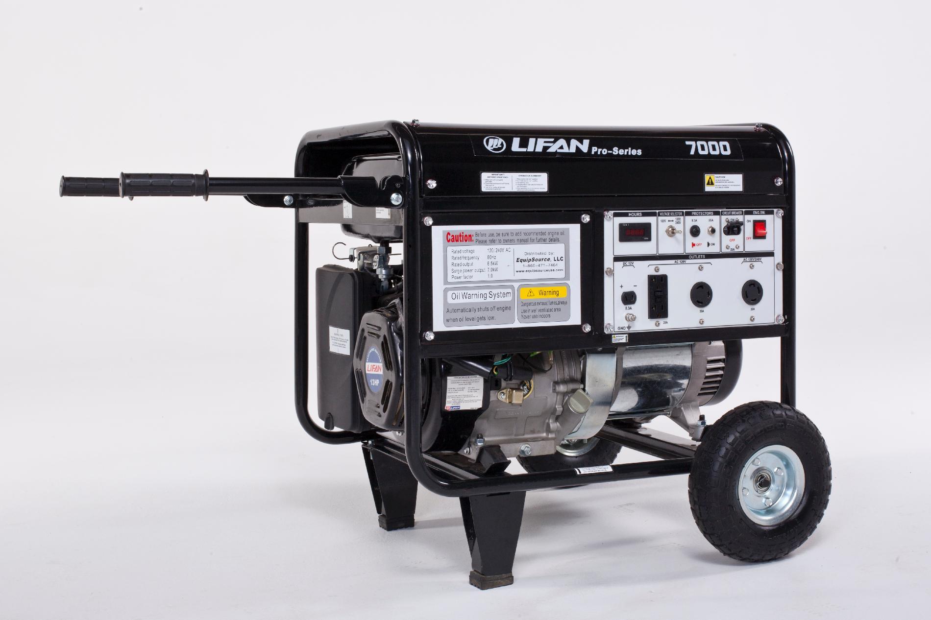 Lifan Pro-Series 7000 watt generator CARB compliant