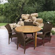 Amazonia Seminole 5 Piece Teak/Synthetic Wicker Round Patio Dining Set at Sears.com