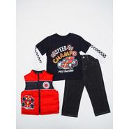 Little Rebels Infant & Toddler Boy's Puffer Vest, Graphic T-Shirt & Jeans - Speed Champ at Sears.com
