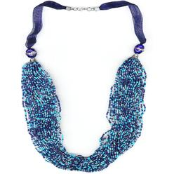 Jaclyn Smith Women's Multi-Strand Ribbon & Seed Bead Necklace at Kmart.com