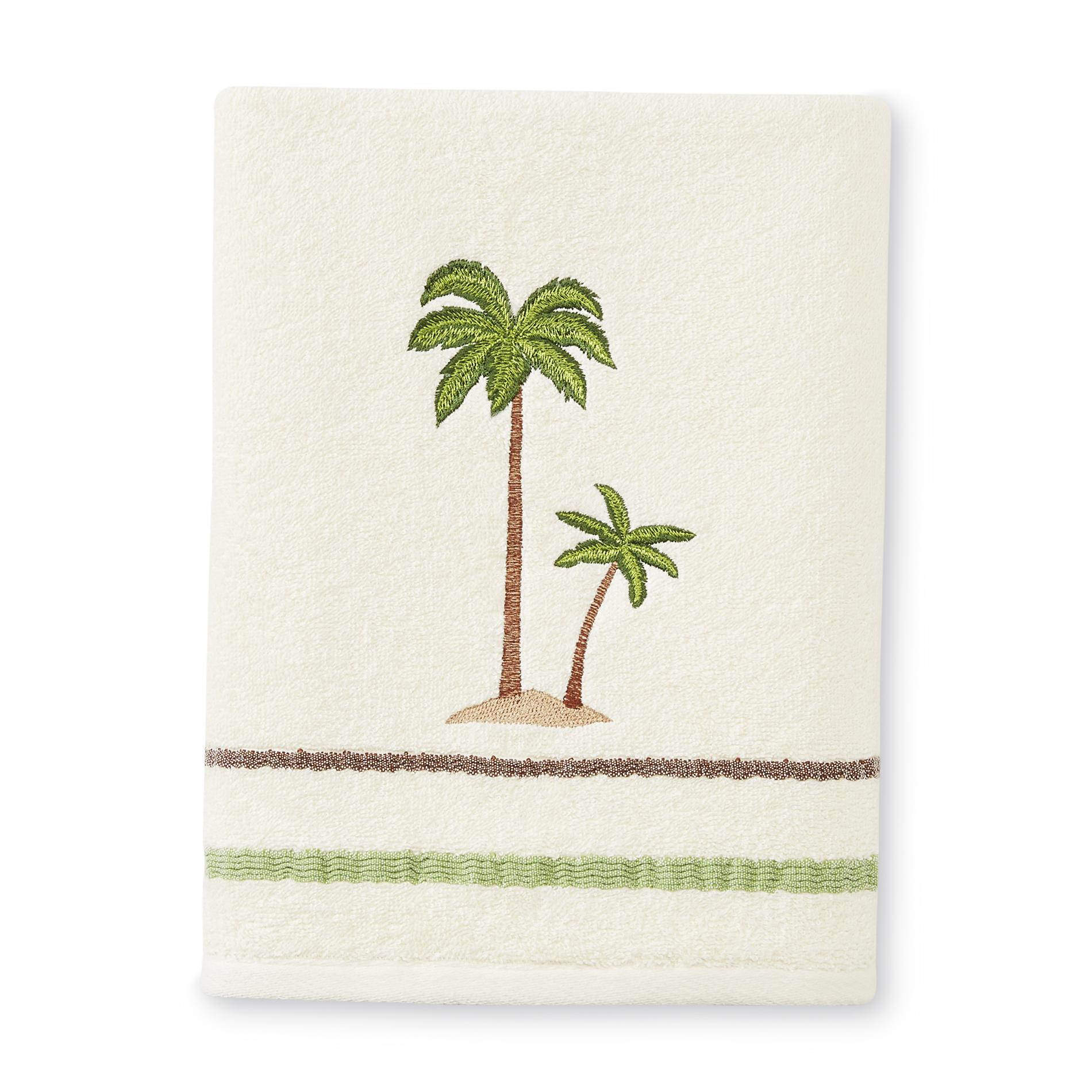 Key Largo Bath Towel Embroidered Natural