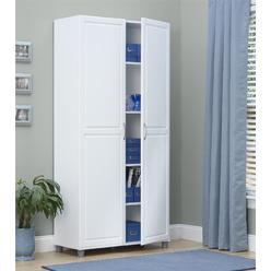 Dorel Home Furnishings Kendall 36 White Utility Storage Cabinet