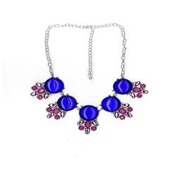 Jaclyn Smith Women's Silvertone Jeweled Bib Necklace at Kmart.com
