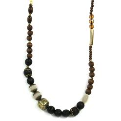 Jaclyn Smith Women's Single-Strand Beaded Necklace - Wood at Kmart.com