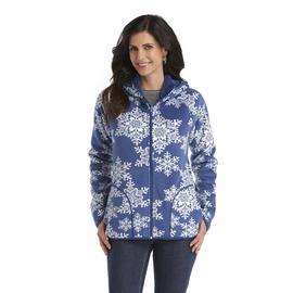 Laura Scott Women's Reversible Hoodie Jacket - Snowflakes at Sears.com