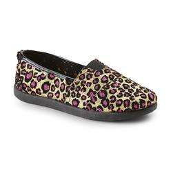 Joe Boxer Girl's Brooklyn Pink & Gold Leopard Print Glittered Casual Shoe at Kmart.com