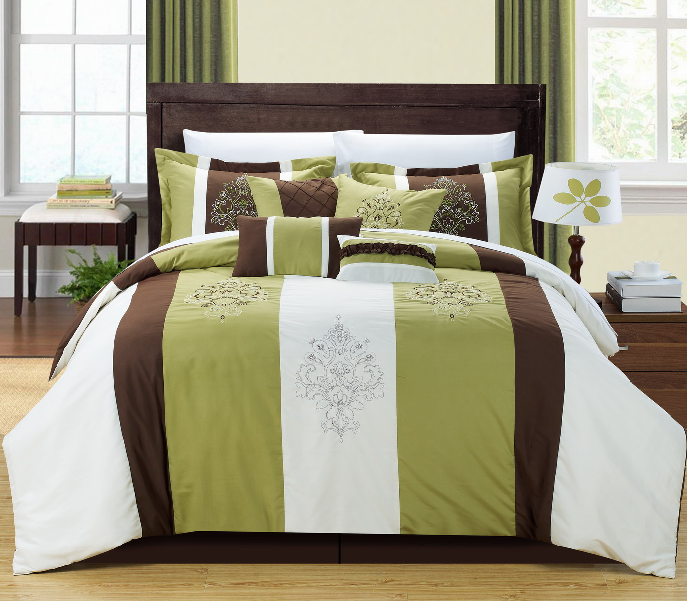 Chic Home Vicky 12 pc Embroidered Comforter Set