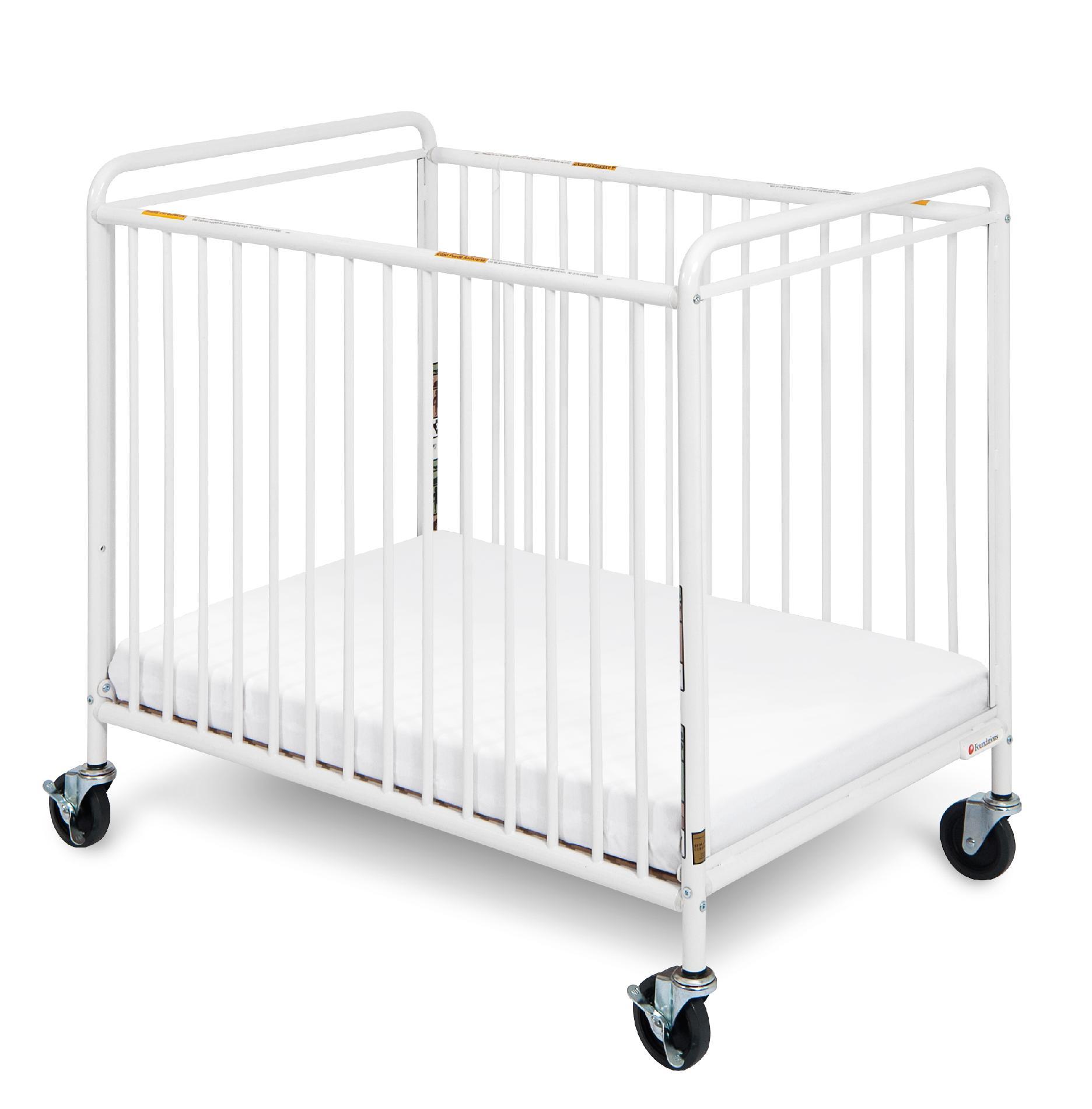 Chelsea Euro Clear Choice Mini Non-folding Crib with 4