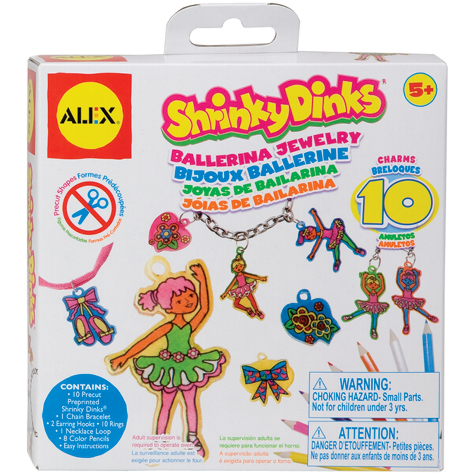 Alex Toys Shrinky Dinks Jewelry Kit Ballerina PartNumber: 021V005872892000P KsnValue: 5872892 MfgPartNumber: 494-B