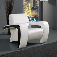 Venetian Worldwide ENEZ White Leatherette Chair at Sears.com