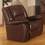 Venetian Worldwide CLARKSVILLE Chocolate Brown Leatherette Reclining Chair at Kmart.com