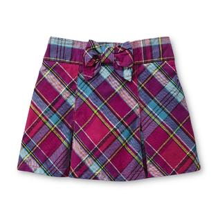 Toughskins Girl's Plaid Twill Scooter