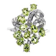 Ladies Sterling Silver Peridot and Diamond Accent Ring at Kmart.com