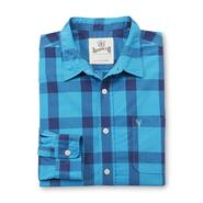 Roebuck & Co. Young Men's Button-Front Shirt - Buffalo Plaid at Sears.com