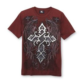 SK2 Boy's Graphic T-Shirt - Winged Metallic Cross at Kmart.com
