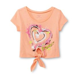 Piper Girl's Tie-Front Crop Top - Heart Breaker at Kmart.com