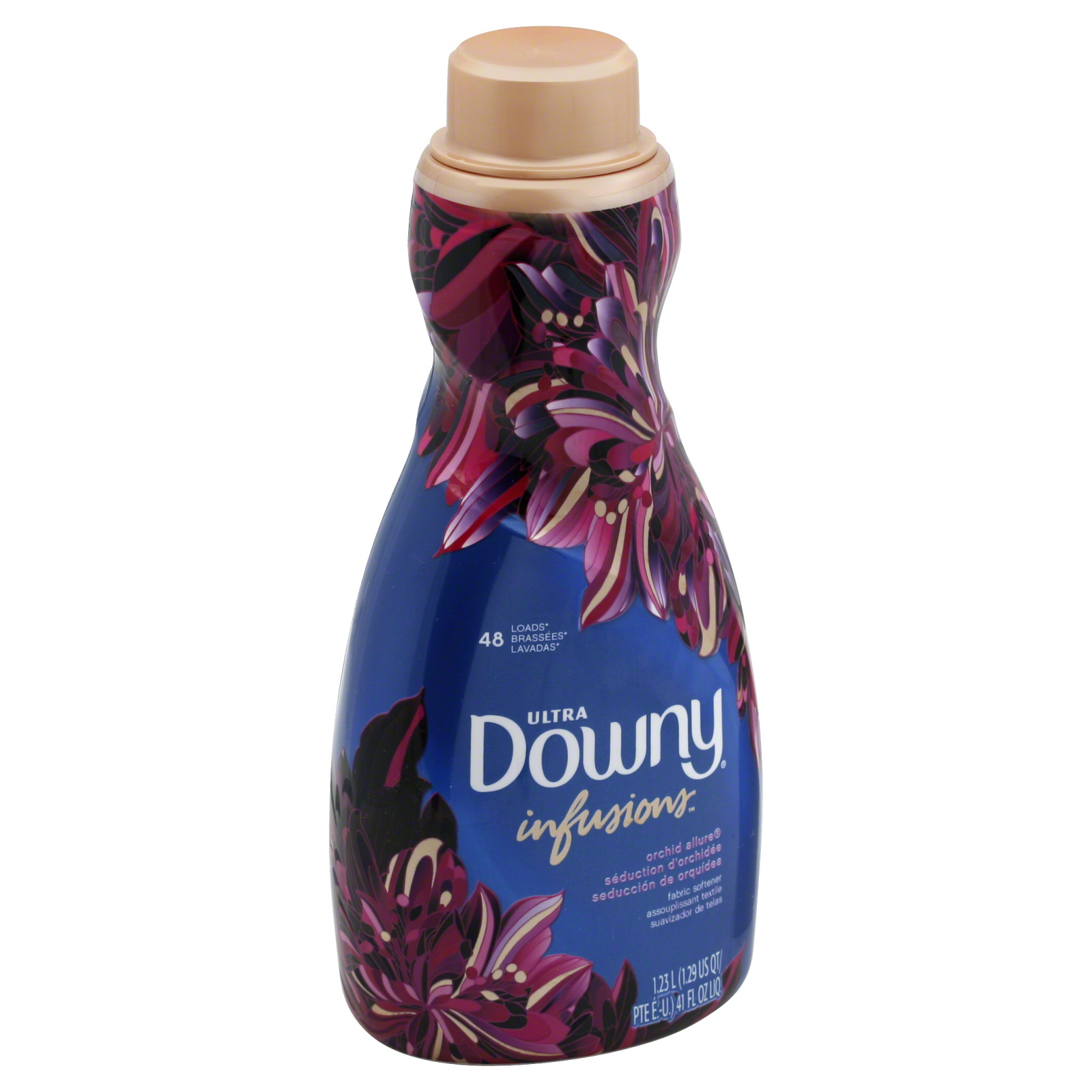 downy ultra infusions liquid fabric softener orchid allure 41 fl oz food grocery laundry. Black Bedroom Furniture Sets. Home Design Ideas