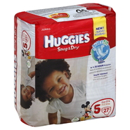 Huggies Snug & Dry Diapers, Size 5 (Over 27 lb), Disney Baby, Jumbo, 27 diapers at Kmart.com
