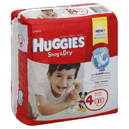 Huggies Snug & Dry Diapers, Size 4 (22-37 lb), Disney Baby, Jumbo, 31 diapers at Kmart.com