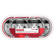 Craftsman 7-1/4 In. 40T, (2)26T, 60T, 140T 5 pack Carbide at Craftsman.com