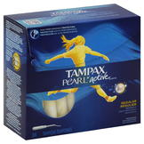 Tampax Pearl Active Tampons, Plastic, Regular, Unscented, 36 tampons at mygofer.com