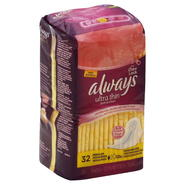 Always Pads, Ultra Thin, Flexi-Wings, Regular, Deodorizing, 32 pads at Kmart.com