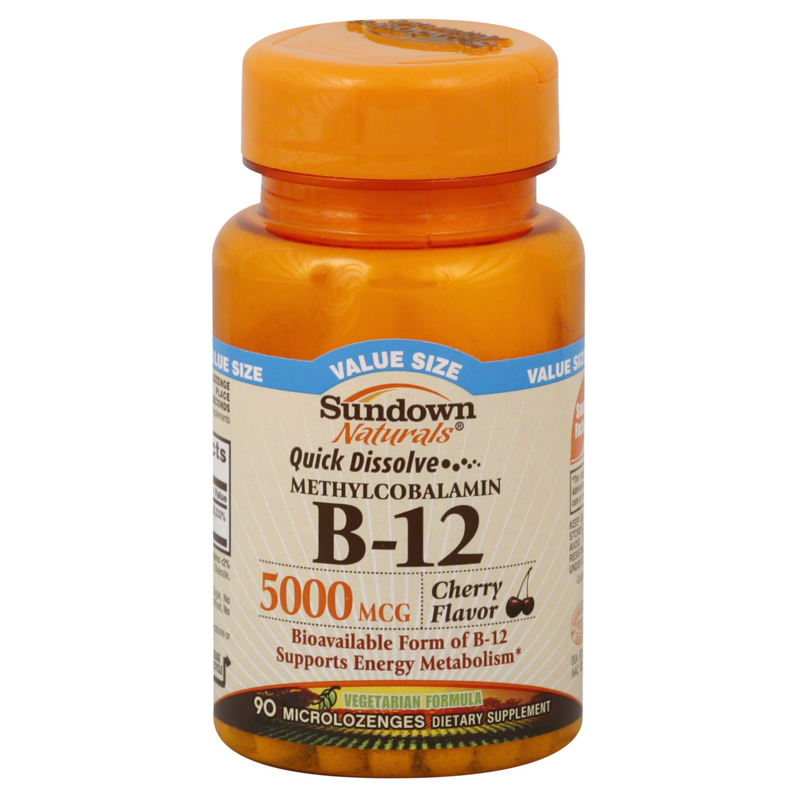 Sundown Vitamin B12, Methylcobalamin, 5000 mcg