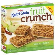 Kellogg's Granola Bars, Fruit Crunch, Apple Cobbler, 5 - 1.48 oz (42 g) pouches [7.4 oz (210 g)] at Kmart.com