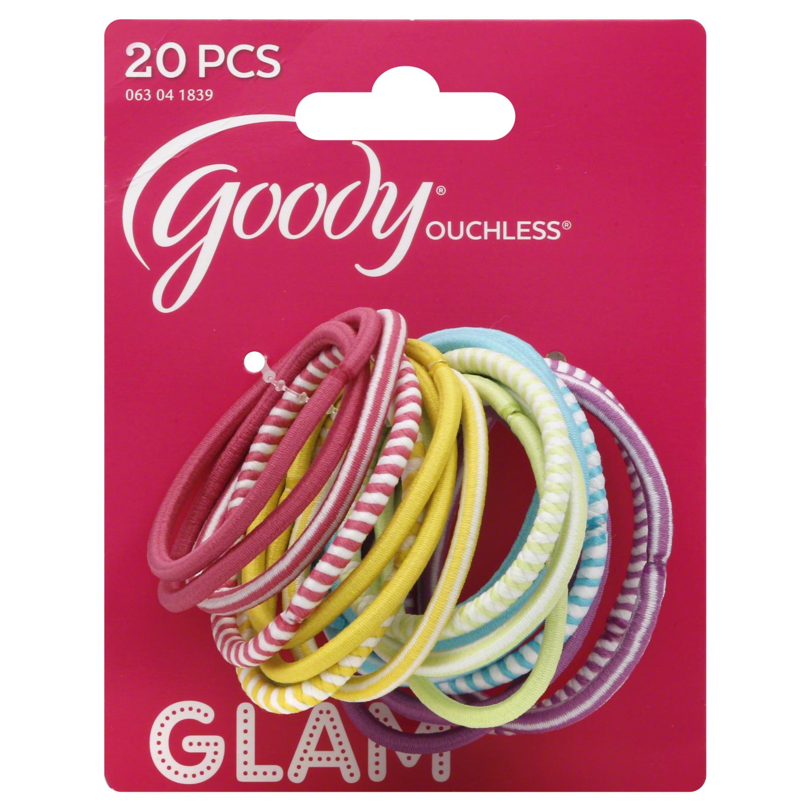 Goody Ouchless Girls Pastel Elastics, 20 pcs PartNumber: 038W006391133001P KsnValue: 6391133 MfgPartNumber: 1884105