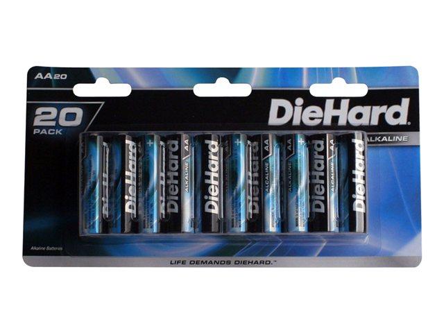 DieHard 20 pack AA size Alkaline battery