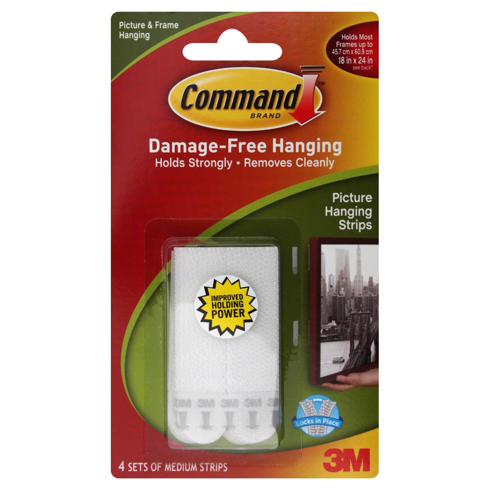 scotch command damage free picture hanging strips 3 sets. Black Bedroom Furniture Sets. Home Design Ideas