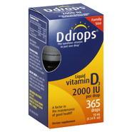 D Drops Vitamin D3, 2000 IU, Liquid, Drops, Family Size, 365 drops [0.34 fl oz (10 ml)] at Kmart.com