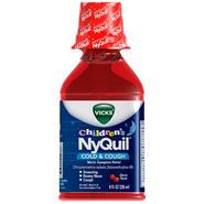 Vicks Children's NyQuil Multi-Symptom Cherry Liquid Cold & Cough Relief 8 FL OZ PLASTIC BOTTLE at Kmart.com