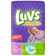 Luvs with Ultra Leakguards Size Newborn Diapers 40 CT BAG at Kmart.com