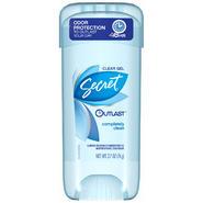 Secret Outlast Completely Clean Clear Gel Antiperspirant & Deodorant 2.7 OZ STICK at Kmart.com