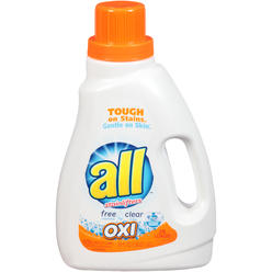 All with Stainlifters Oxi Free Clear 28 Loads Liquid Laundry Detergent 50 FL OZ PLASTIC JUG at Kmart.com