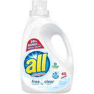 All Free Clear with Stainlifters 40 Loads Liquid Laundry Detergent 60 FL OZ PLASTIC JUG at Kmart.com