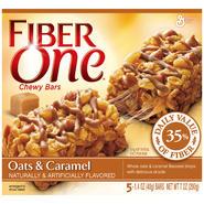Fiber One Oats & Caramel Chewy Bars 7 OZ BOX at Kmart.com
