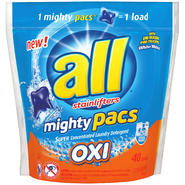 All with Stainlifters Oxi Mighty Pacs Super Concentrated 40 Loads Laundry Detergent 2.11 LB STAND UP BAG at Kmart.com