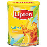 Lipton Natural Lemon Sugar Sweetened Iced Tea Mix 26.5 OZ CANISTER at Kmart.com