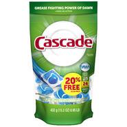 Cascade ActionPacs Fresh Scent Dishwashing Detergent 24 CT BAG at Kmart.com