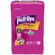 Pull-Ups with Learning Designs for Girls 4T-5T Training Pants 18 CT PACK at Kmart.com