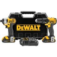 DeWalt 20 V MAX* Lithium Ion Compact Drill/Driver / Impact Driver Combo Kit (1.5 Ah) at Sears.com