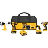 DeWalt 18 V Cordless 4-Tool Combo Kit with XRP™ Li-ion Battery Packs at Sears.com