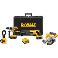 DeWalt 18 V XRP Cordless 4-Tool Combo Kit at Sears.com