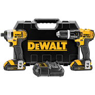 DeWalt 20 V MAX* Lithium Ion Compact Hammerdrill / Impact Driver Combo Kit (1.5 Ah) at Sears.com