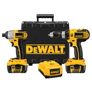 DeWalt 18 V Cordless Hammerdrills / Impact Driver Combo Kit with XRP™ Li-ion Battery Packs at Sears.com