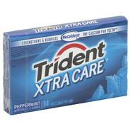 Trident Xtra Care Gum, Sugar Free, Peppermint, 14 pieces at Kmart.com