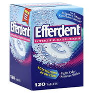 Efferdent Anti-Bacterial Denture Cleanser, 120 tablets at Kmart.com