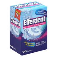 Efferdent Anti-Bacterial Denture Cleanser, Tablets, 90 tablets at Kmart.com